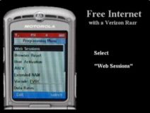 Product picture Free WAP Internet On Motorola RAZR Cell Phone